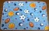 balls printing 100%Polyester Polar fleece Blanket/Micro fiber baby Blanket