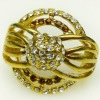 Whosale gold plating ring jewellery for women or lovers