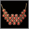 Artificial ruby inset on the 18 k gold coated metal necklace
