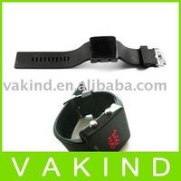 Black squarel digital LED Display Sport Wrist Watch
