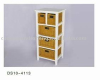 sell beautiful white wooden cabinet with willow drawers