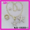 wholesale fashion gold jewelry earrings and rings sets