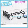 torch light rechargeable batterry waterproof 55W diving