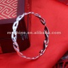 2013 newest design 8mm wide open silver bangle bracelet