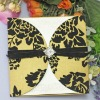 2012 hot sale flocking wedding invitation card --EA025