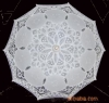 The handwork embroiders the craft umbrella