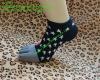 knitting pattern no show jacquard 5 toe cotton socks,boat socks