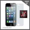 anti-reflection (front) screen protector for iphone 5 with cleaning cloth