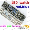 Fashion cheap led watch male and female