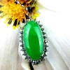 green stone oval pendants, green gemstone jewelry pendant, jade color jewelry pendant