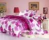 pink rose 100% cotton printed fabric bedding set home textile