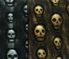 skull print fabric,artificial leather