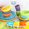 Kitchen crockery hand painted colorful ceramic stoneware dinnerware set