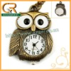 Owl Pendant New Fashion Jewelry Time watch Necklace D00007o