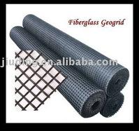 High way base material fiberglass geogrid