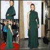 PD 006 Hotsale One Long Sleeve Green Floor Length Chiffon Long Evening Dresses With Sleeves