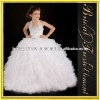 Hot Sale Tulle Halter Ruffled Beaded Ball Gown Dresses To First Communion