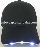 black cotton cap with led light