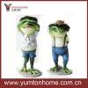 Frog prince and princess metal crafts home decoration set of 2