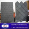 china honed black slate