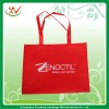 Red eco friendly shopping bag