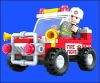 2012 AUSINI Fire fighting plastic building blocks toys