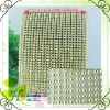 24 rows gold plastic trimming mesh