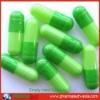 Green color hard empty capsule