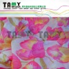 flower design printed voile fabric