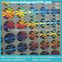 Adhesive secure genuine hologram