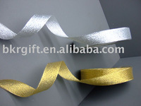 christmas gold and silver Metallic ribbon medals and ribbons