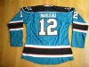 Sharks  Patrick Marleau #12 TEAL COLOR  + PAYPEL ACCEPT