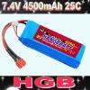 7.4 VBattery pack(Lithium battery 11.1V 4500mAh 25C, RC battery)