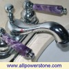 Gemstone Faucet Handle - Hex Handle