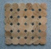 Mosaic tile (mosaic,decorative material,woodvein marble mosaic)