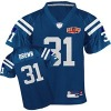 2010 super XLIV Bowl Indianapolis Colts #31 brown Jersey