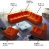 017-00052-033  Togo 1 seater sofa