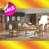 EA018 Luxurious high-end handmade solid wood carved dining table
