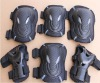 Different size skate board knee and elbow pads