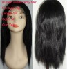 manufacture straight 100% brazilian remy human hair full lace wig