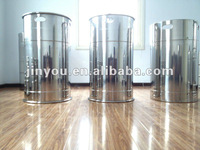 Closed stainless steel drum