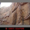 large scale artificial rock cliff and hill side,waterfall