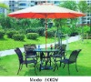popular middle pole wooden name brand outdoor umbrella