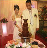 4 Tires 60cm Commercial Chocolate Melting Machine