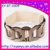 fashion buckle cream dress waist band elastic belt for girls