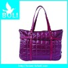 2012 zipper poly handbag tote gift promotional bag rose red lady shoulder handbag(BL51440FB-C)