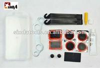 15pc bike tire repair mobile repairing tool kit with see-through case