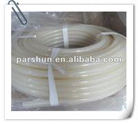 transparent color braided silicone hose