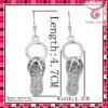 2011 hot selling fashion drop earrings,slipper pendant earrings,designer earrings