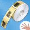 500Pcs Acrylic UV Gel Tip Nail Art Form Card Paper Extension Tool Gold